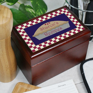Personalized Pie Recipe Card Box