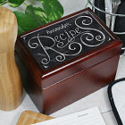 Personalized Chalkboard Recipe Card Box