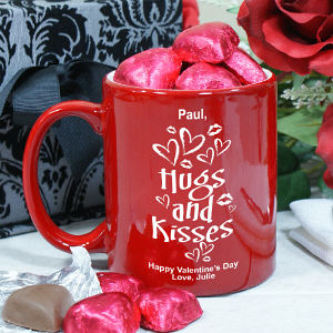 Hugs and Kisses Coffee Bistro Mug