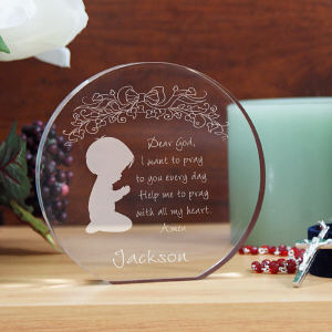 Engraved Boy's Prayer Keepsake
