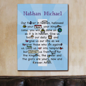 Personalized Our Father Prayer Canvas