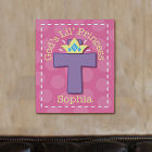 Personalized God's Lil' Princess Wall Canvas