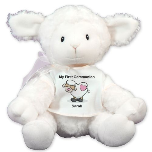 Personalized First Communion Lamb GU319736-7255