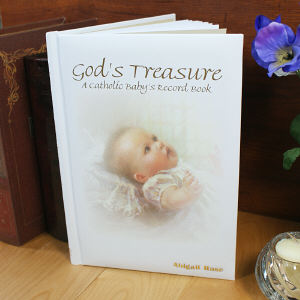 Personalized Catholic Baby's Record Book