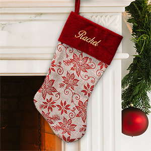 Classic Personalized Christmas Stocking | Embroidered Christmas Stocking
