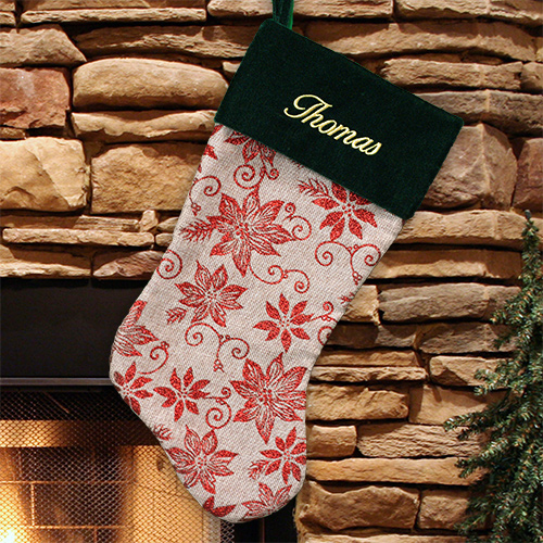 Classic Personalized Christmas Stocking | Unique Christmas Stocking
