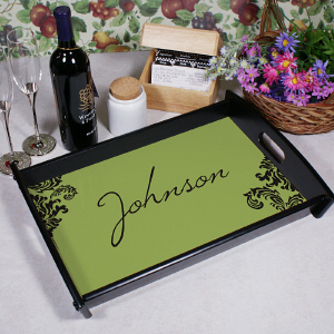Personalized Family Welcome Serving Tray