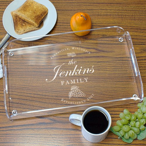 Family Vineyard Serving Tray | Gifts For the Home