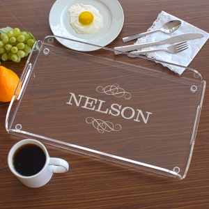Engraved Family Serving Tray