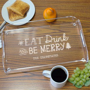 Engraved Christmas Serving Tray