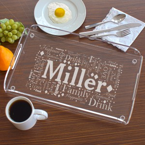 Engraved Family Serving Tray L8166112