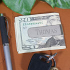 Elongated Silver Money Clip