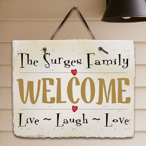 Live, Laugh, Love Personalized Slate Plaque 63120537