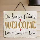 Live, Laugh, Love Personalized Slate Plaque
