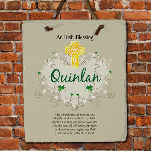 Personalized Irish Blessing Slate Plaque | Personalized Welcome Signs