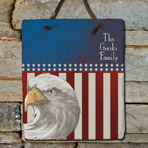 Personalized American Pride Slate Plaque