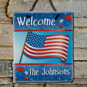 Personalized Slate Plaque - American Pride Design