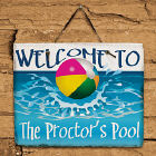 Beach Ball Welcome Slate Plaque 63135467