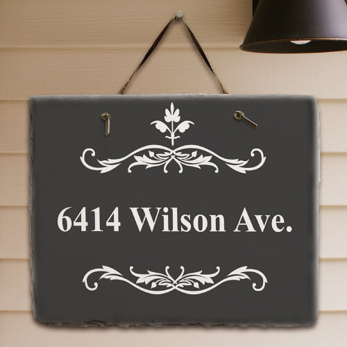 Filigree Personalized Slate Plaque | Housewarming Gift Ideas