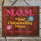 Personalized Outstanding Mom Slate Plaque