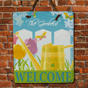 Personalized Watering Can Slate Plaque 63139746