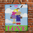 Personalized Swing Couple Slate Plaque