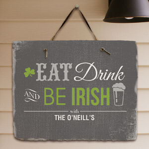 Personalized Irish Welcome Slate Plaque