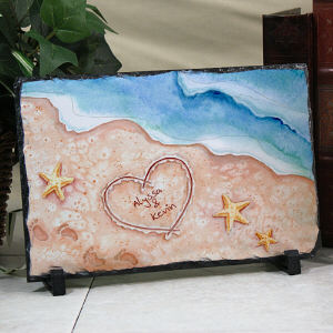Personalized Shores of Love Stone Keepsake