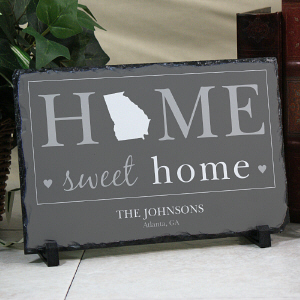 Personalized Home Sweet Home Welcome Stone Keepsake