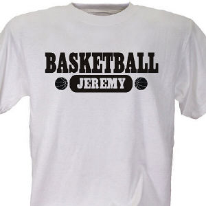 Personalized Basketball Sports T-Shirt