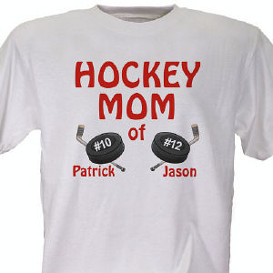 Hockey Mom Personalized T-shirt