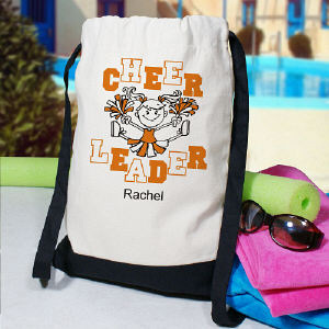 Personalized Cheerleader Sports Backpack CSP835342x
