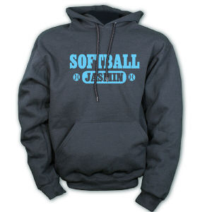 Personalized Softball Hooded Sweatshirt