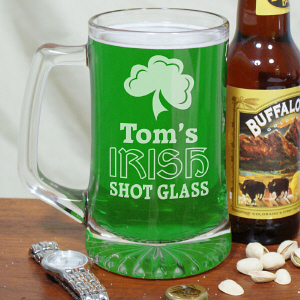 Engraved Irish Shot Glass Beer Mug