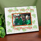 Personalized Happy St. Patrick's Day Printed Frame