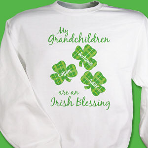 Irish Blessings Personalized Sweatshirt