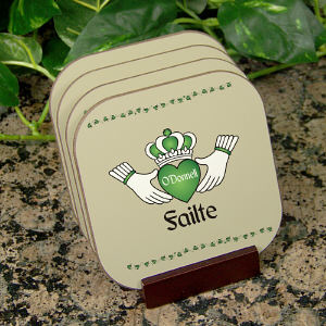 Personalized Failte Irish Coaster Set