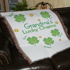 Personalized Lucky Charms Tapestry Throw Blanket