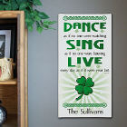 Dance Sing Live Personalized Wall Canvas