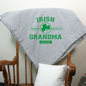 Personalized Irish Grandma Fleece Blanket