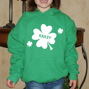 Personalized Shamrock Green Hooded Sweatshirt