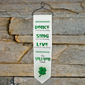 Personalized Dance, Sing, Live Irish Wall Banner