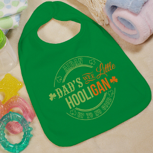 Personalized Wee Little Hooligan Baby Bib