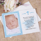 Personalized Baptism Photo Invitations
