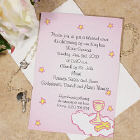 Custom Printed Christening Invitations