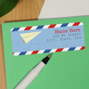 Personalized Paper Airplanes Address Labels