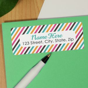 Personalized Stripes Address Labels