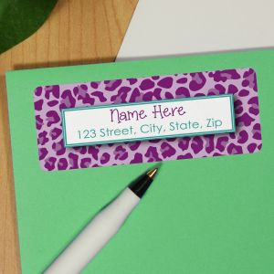 Personalized Leopard Print Address Labels