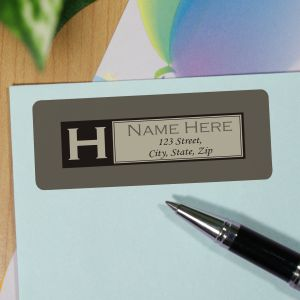 Personalized Initial Address Labels