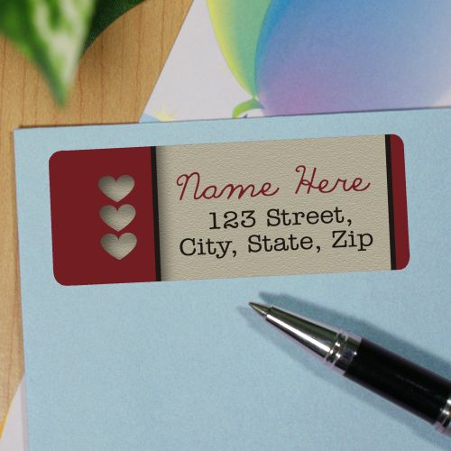 Personalized Hearts Address Labels 172740X